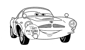 Cars The Movie Coloring Pages Finn Mcmissile Of Disney 2 Page For Kids Sheets