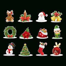 Unique Deco Sapin De Noel Tinksky 28 Pieces Merry Christmas étoiles