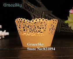 100PCS Lot Laser Cutting Butterfly With Flowers Paper Cake Cases For Wedding Party Holder Decoration Birthday Liners