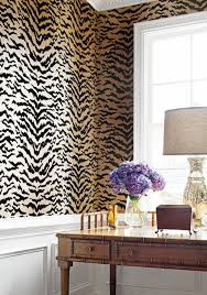 Cheetah Print Room Accessories by Amazing Animal Print Wallpaper Ideas Shoproomideas Thibaut Design
