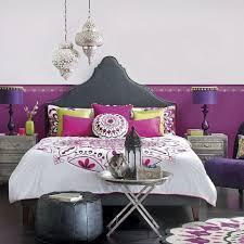 Purple And Silver Boho Bedroom