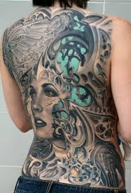 3D Gothic Back Tattoo Meanings