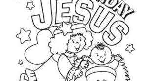 Happy Birthday Jesus Coloring Page Regarding The House