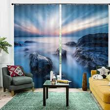 us 57 0 62 customize forest landscape 3d curtain home window high shading vorhang schlafzimmer blackout curtains aliexpress