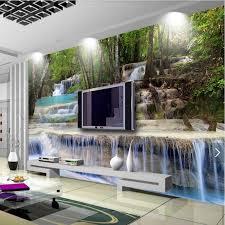 3d 5d 8d foto tapete natur wasserfall wandbild für wohnzimmer home wand dekorative malerei leinwand silk tuch landschaft wandmalereien