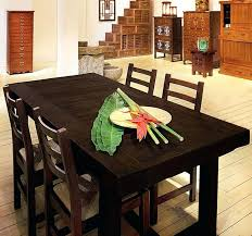 Asian Dining Room Sets Decor Ideas With Dark Brown Wooden And Chairs