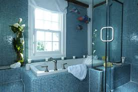 Blue Mosaic Bathroom Mirror by Cream Marble Wall Mounted Vanity Blue Purple Bathroom Ideas Top