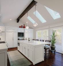 chicago cathedral ceiling lighting kitchen traditional with
