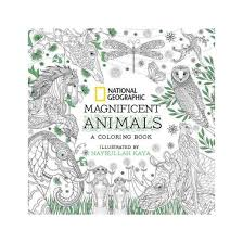 National Geographic Magnificent Animals A Coloring Book Paperback
