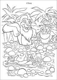 Simba Timon And Pumbaa Having A Bath