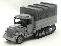 Half-Track — BrickNerd - Your Place For All Things LEGO And The LEGO ... Amazoncom Brick Brigade Custom Lego Military Model Vehicle For Lego Wwii Deuce And A Half Cckw Itructions Youtube Wc52 Truck Modern Vehicles Ideas Product Ideas Train Carriages Brickmania Blog Winners Arent Born Theyre Built Page 58 Classic Legocom Us Deluxe Swat Police Made With Real Bricks Heavy Tatra 8x8 Toy Mini Army War Building Block Jeep M35 Halftrack Bricknerd Your Place All Things The