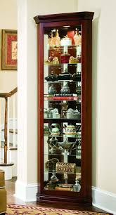 Pulaski Glass Panel Display Cabinet by Corner Curio Cabinet Victorian Cherry By Pulaski Home Gallery