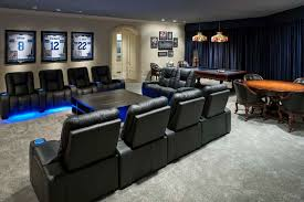 dallas cowboys inspired game and media room contemporary home