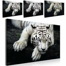 details zu tiere leinwand bild wandbild kunstdruck wohnzimmer 5motive jaguar tiger löwe