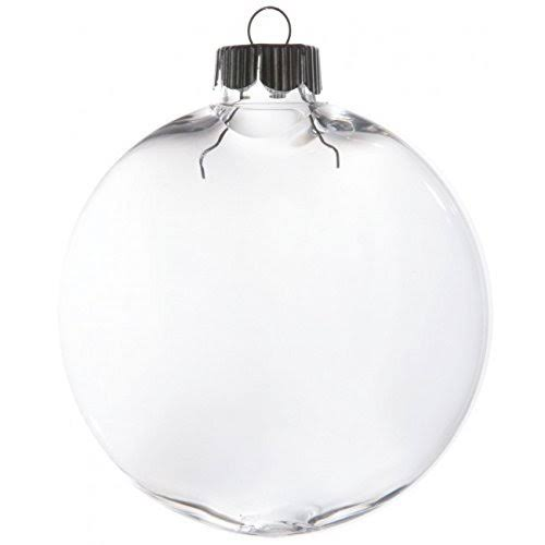 Clear Oval Ball Ornament: 80mm