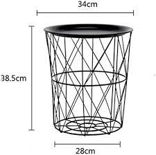 mkjia beistelltisch metallkorb kleiner tisch tisch