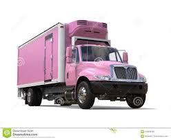 Pink Cargo Refrigerator Truck - Closeup Shot Stock Illustration ...