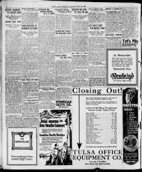 Tulsa County Daily Desk Blotter by The Morning Tulsa Daily World From Tulsa Oklahoma On May 30 1922