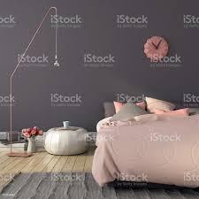 schlafzimmer in rosa und grau farbe stockfoto und mehr bilder beige