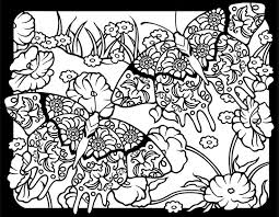 Butterfly Art Coloring Book Fanciful Butterflies Stained Glass Bebo Pandco