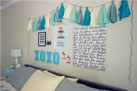 Buy Bed Sheets And Decorate One Wall Of Your Room With Pictures Posters Make Thermocol Letters Like They Have Made XOXO DIY