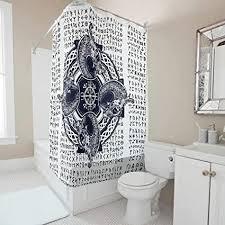 gamoii wikinger totem rune duschvorhang bad vorhänge 3d