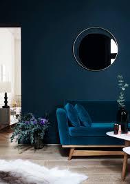 Teal Sofa Living Room Ideas by Canapé 210 Velours Bleu Canard Red Edition Miroir En Verre Fumé Et
