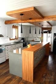 cuisine am駻icaine avec ilot central ilot de cuisine en bois wonderful modele de cuisine americaine avec