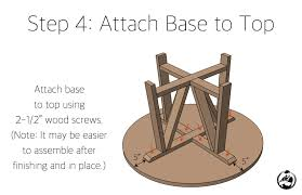 round trestle dining table free diy plans rogue engineer