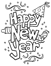 New Year Fireworks Coloring Pages