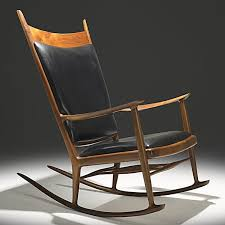 Sam Maloof Rocking Chair Video by Sam Maloof Walnut Ebony And Leather Rocking Chair C1970