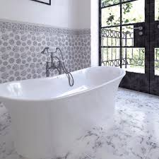 Mosaic Tile Chantilly Virginia by Order Margherita Calacatta Gold White And Grey Marble Waterjet
