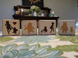 Winnie The Pooh Nursery Decorations by Winnie The Pooh Classic Pooh Quote Personalized Baby Sign Blocks