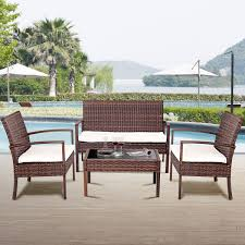 Costway: Costway 4 Pc Rattan Patio Furniture Set Garden Lawn Sofa ... Shop Aleko Wicker Patio Rattan Outdoor Garden Fniture Set Of 3 Pcs 4pc Sofa Conservatory Sunnydaze Tramore 4piece Gray Best Rattan Garden Fniture And Where To Buy It The Telegraph Akando Outdoor Table Chair Hog Giantex Chat Seat Loveseat Table Chairs Costway 4 Pc Lawn Weston Modern Beige Upholstered Grey Lounge Chair Riverdale 2 Bistro With High Webetop Setoutdoor Milano 4pc Setting Coffee