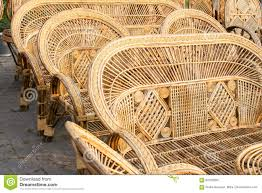 Download Cane Made Chairs Handicraft Items On Display Kolkata Stock Photo