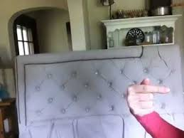 Diamond Tufted Headboard With Crystal Buttons by Tufted Headboard What Would You Do Youtube