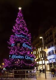 Giant Christmas Tree Outside Corte Ingles On Avenida Portal De LAngel
