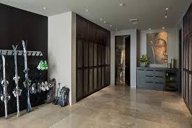 locker room entry rustic with beige floor tile glass table ls