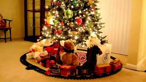 Astounding Ideas Christmas Tree Train Set Go Around Best To Holiday