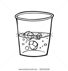 glass of water clipart black and white 8