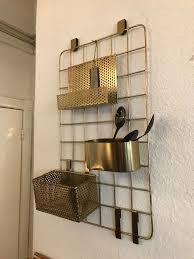 wandregal küchen regal küchenregal badregal gold messing neu chic