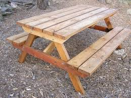 picnic table plans free separate benches friendly woodworking