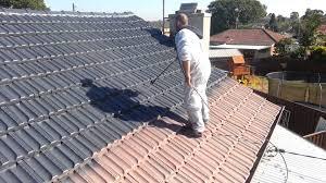 concrete roof tile paint house roof