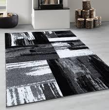 kurzflor wohnzimmerteppich abstrakt modern design teppich
