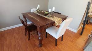 Solid Walnut Square Farm Table