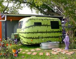 But Lynn Isnt The Only One Getting Creative With Old Trailers Here A Humble Camper Has Become Whimsical Watermelon