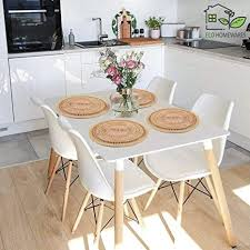 große weiden platzsets für esstisch handgefertigte wasserhyazinthen platzsets für heiße gerichte isolierte heiße pads runde tischsets für küche 4