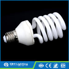 half spiral 7mm d50 5t 25w led energy saving cfl light bulb with