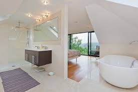 beautiful concept of contemporary bedroom and ensuite