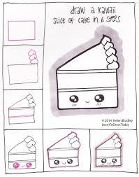 How to draw a kawaii piece of cake Lol